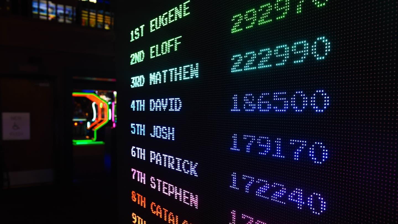 Photo d'un score board