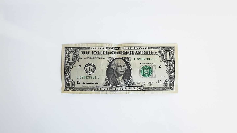 Photo d'un billet de 1 dollar