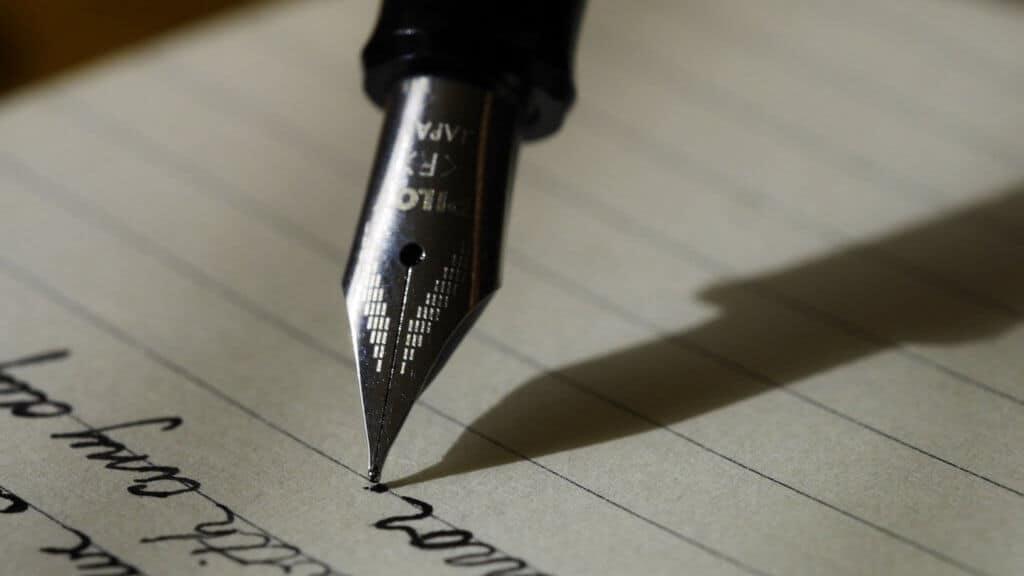 Photo d'un stylo à plume