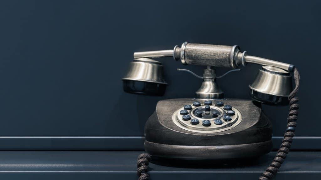 Photo d'un téléphone vintage