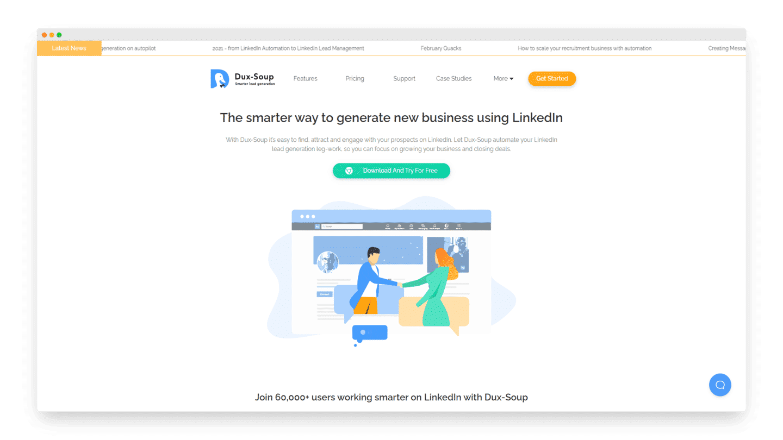 outils leads linkedin duxsoup