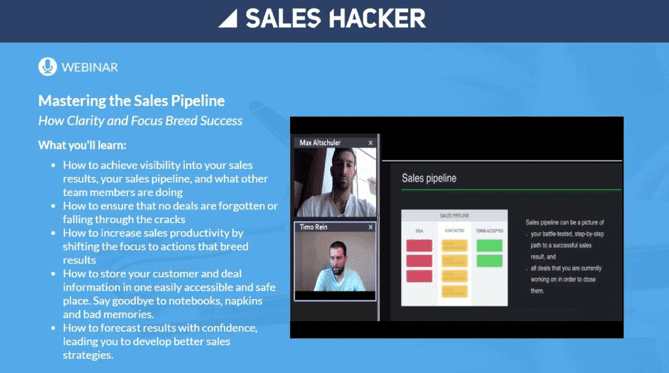 generer leads webinars exemple sales hacker