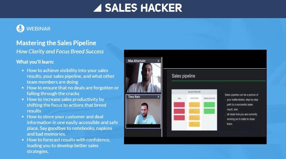 generer leads webinars exemple sales hacker