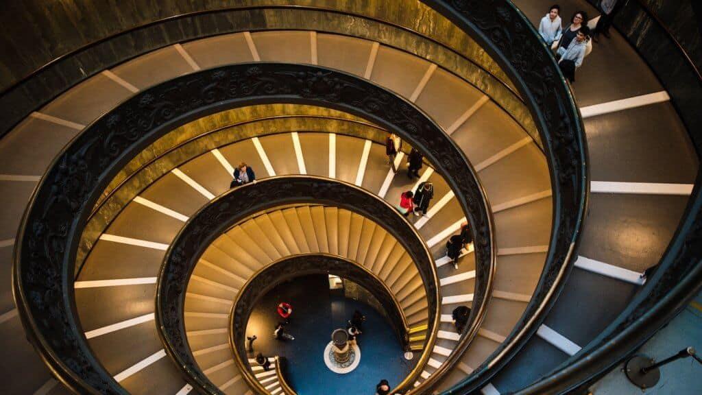 Photo d'un escalier en spirale