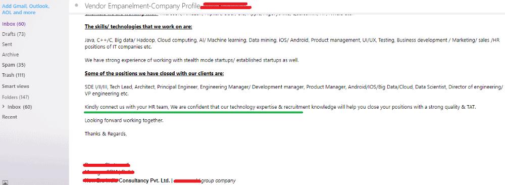 Email de prospection 2.0