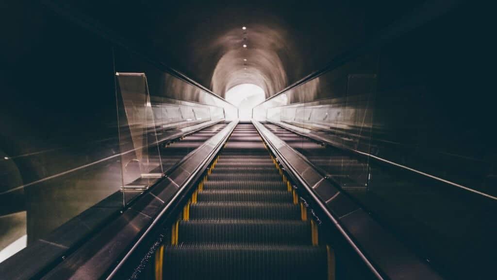 Photo d'un escalator