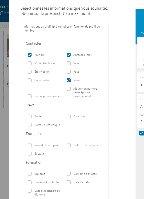 linkedin lead gen forms creation 3