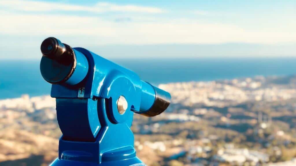 Photo d'un télescope