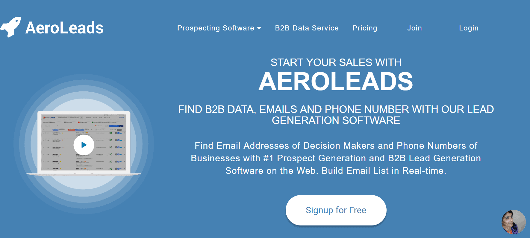 outil lead generation b2b aeroleads