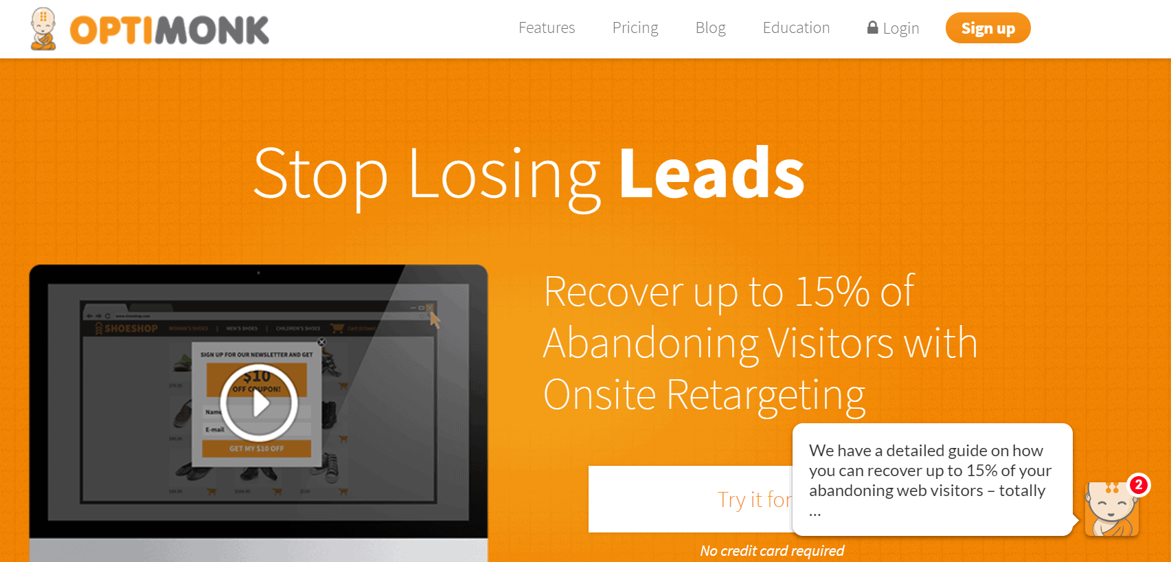 outil lead generation b2b optimonk