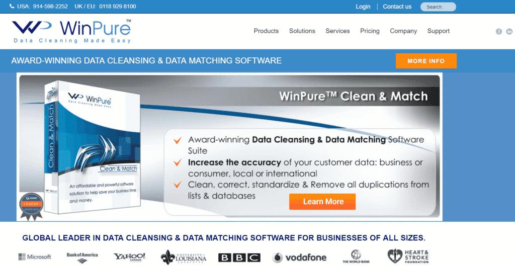 winpure nettoyage base client