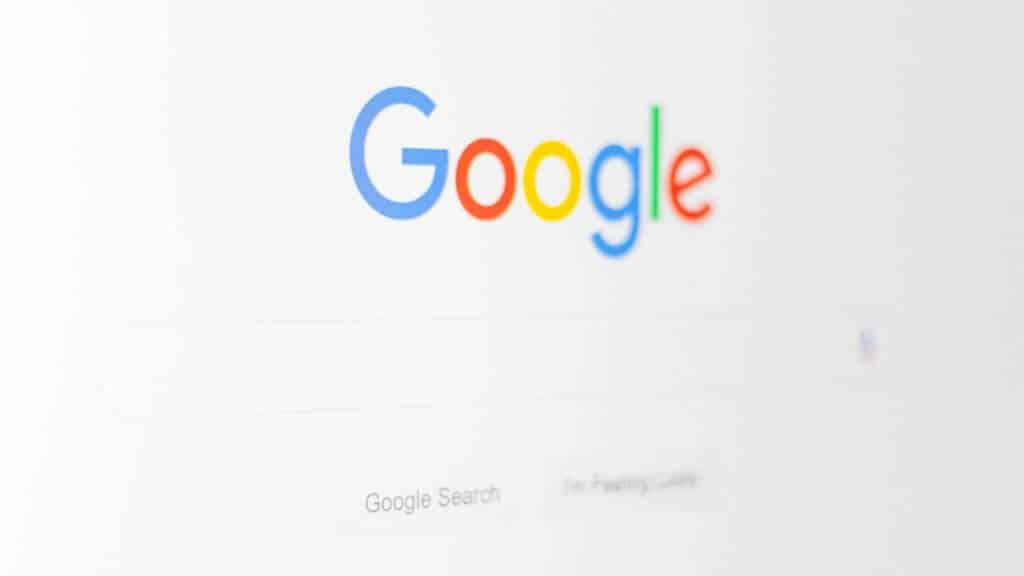 Photo de la landing page de google