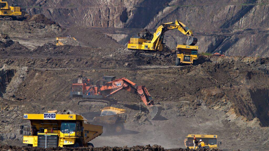Photo d'une mine en activité