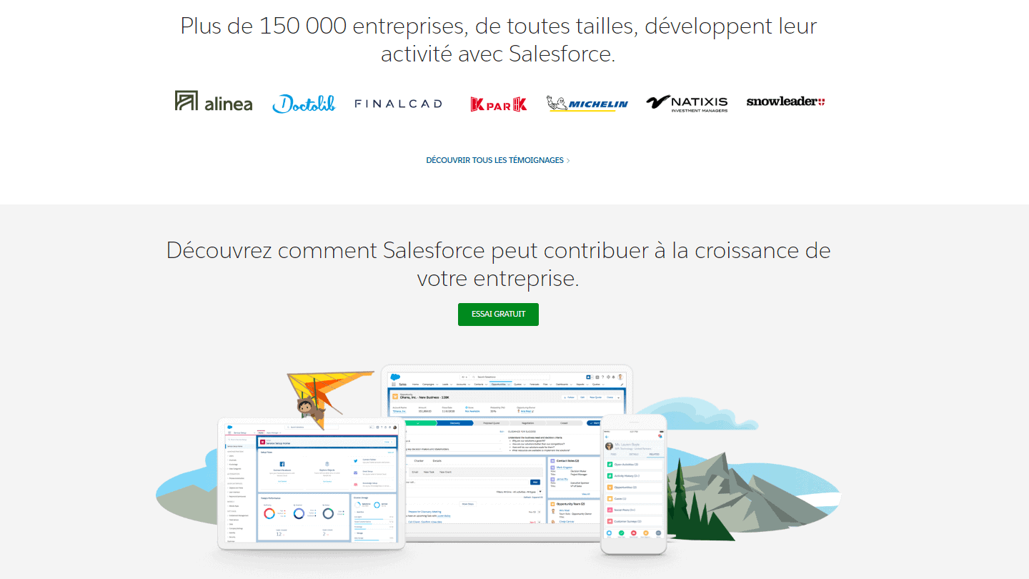landing-page-Salesforce
