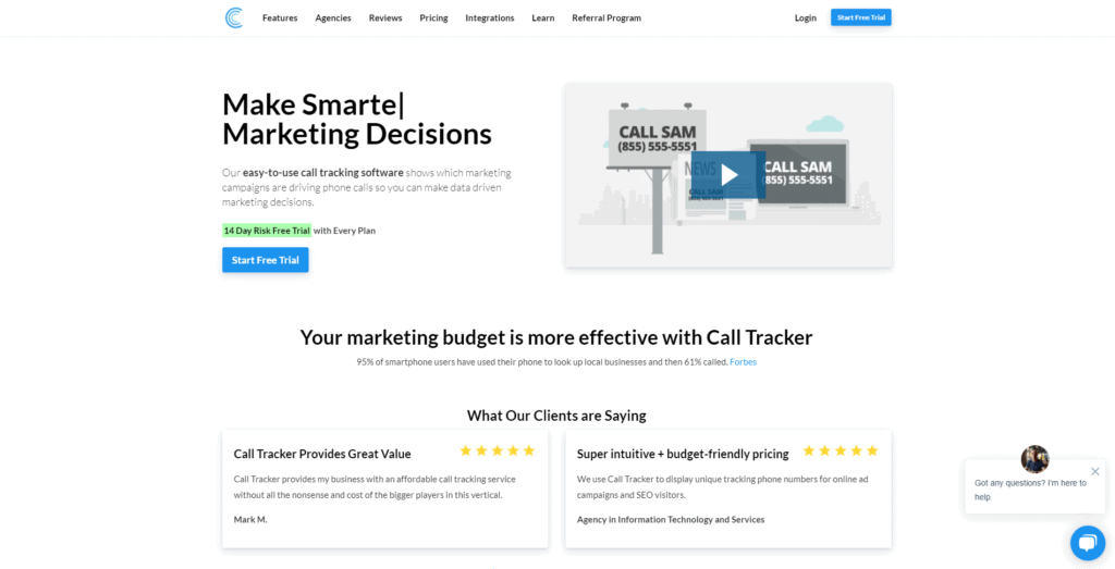 Call Tracking calltracker