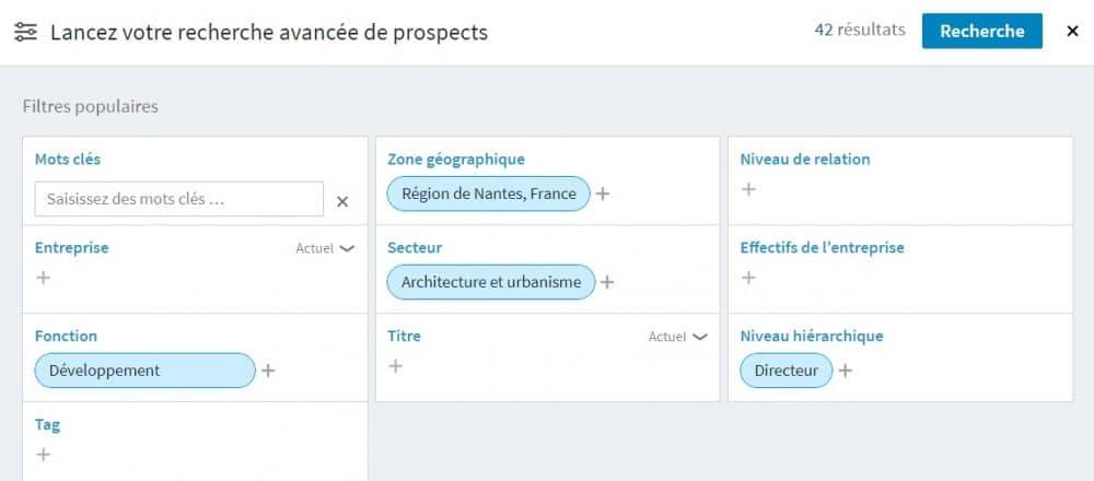 Prospection Linkedin sales navigator