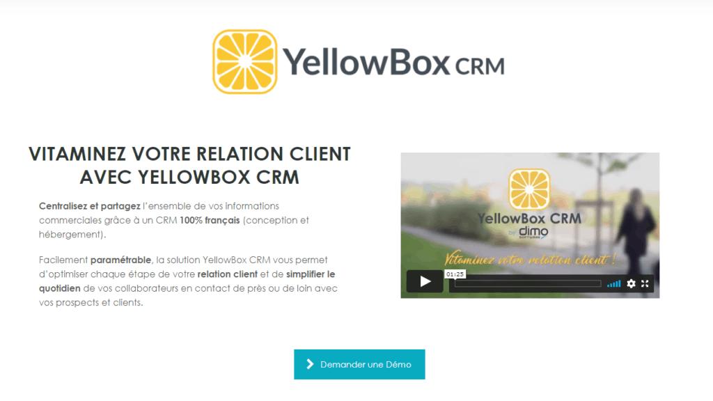 meilleurs logiciels crm Yellowbox