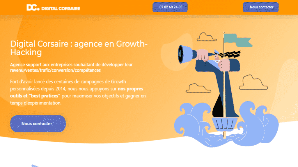 agence growth hacking digital corsaire