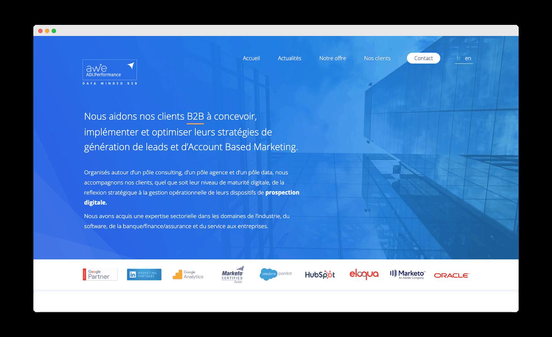 homepage de AWE