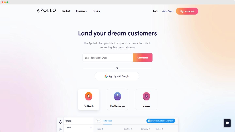 outils account based marketing Apollo