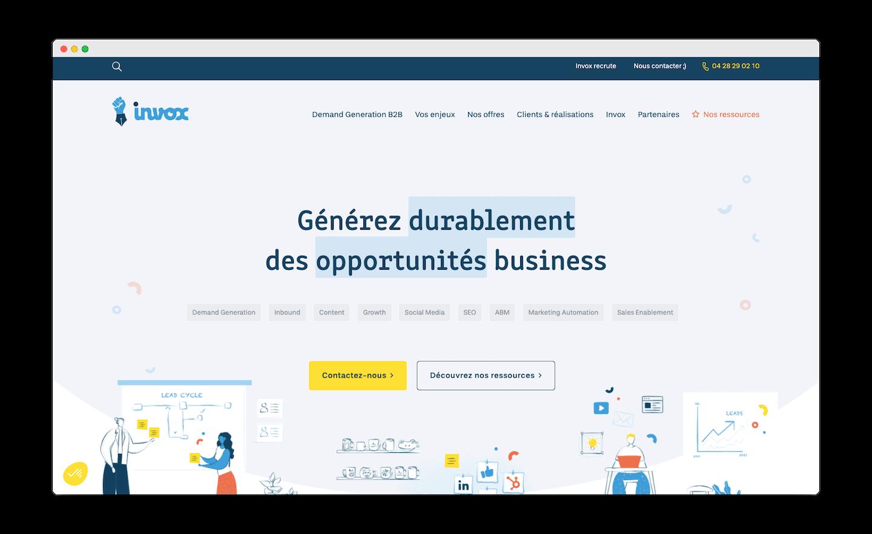 homepage de Invox