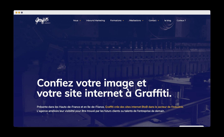 homepage de graffiti
