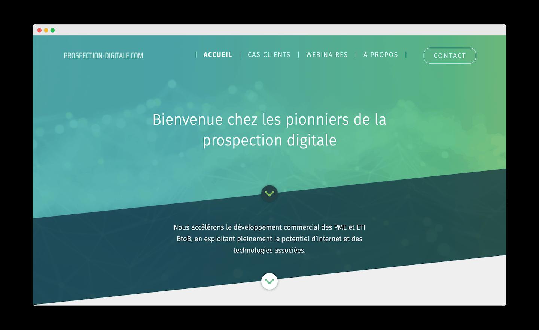homepage de prospection-digitale.com