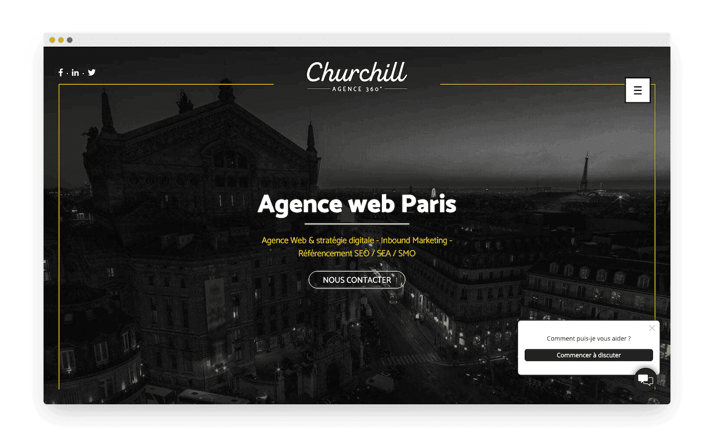 homepage de agence churchill