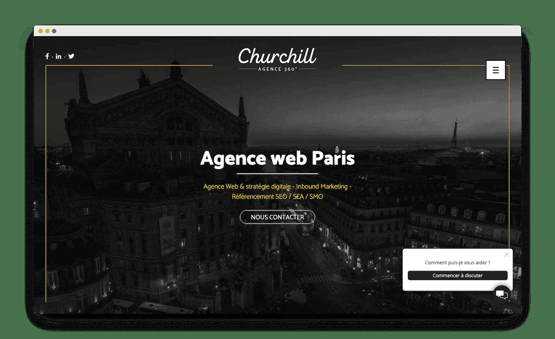 homepage de agence churchill