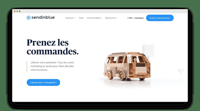 homepage de Sendinblue
