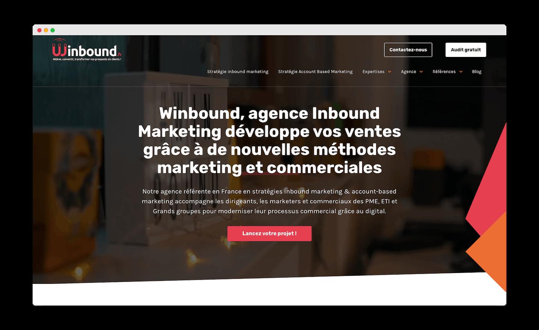 homepage de Winbound