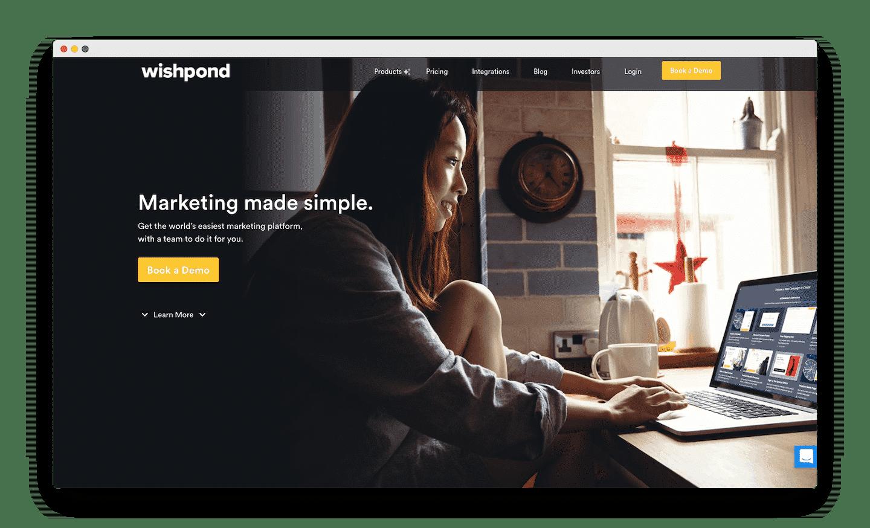 homepage de wishpond