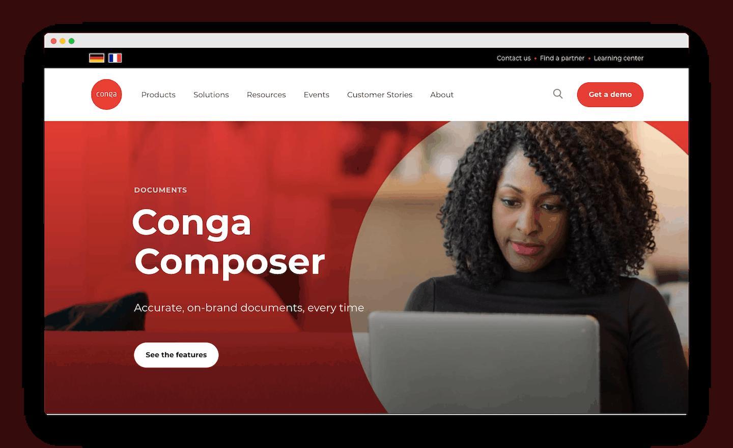 homepage de conga composer