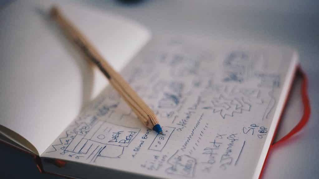 carnet gribouillé idées