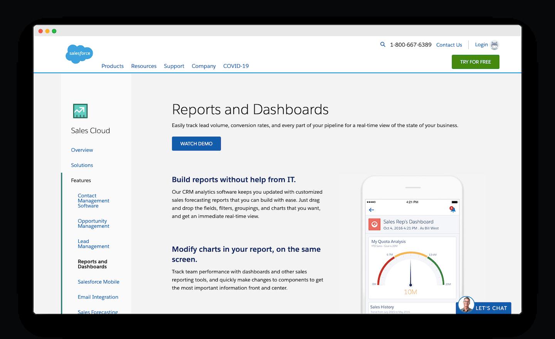 homepage de salesforce