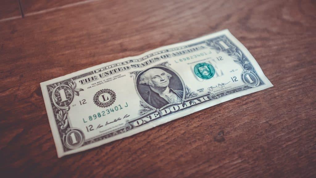 Photo d'un billet d'un dollar