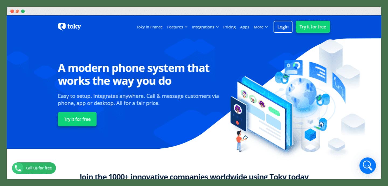 screenshot logiciel toky