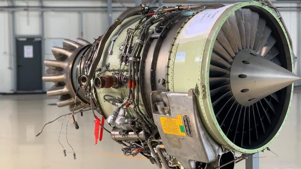 photo d'un réacteur d'avion nu