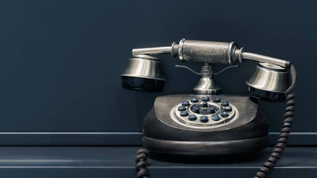 image téléphone vintage